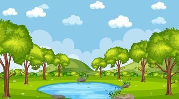 scena della foresta naturale vettore