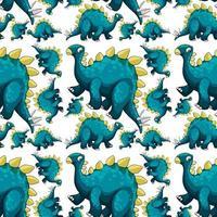 modello senza saldatura con cartone animato di dinosauri fantasia vettore