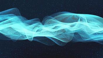 microchip del circuito blu su sfondo tecnologico, design digitale hi-tech e concetto di sicurezza, spazio libero per il testo inserito, illustrazione vettoriale. vettore