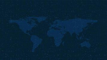 sfondo tecnologia mappa del mondo, connessione e comunicazione concept design, illustrazione vettoriale. vettore