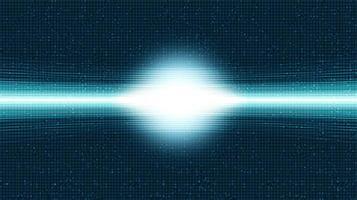 luce di velocità sullo sfondo del microchip del circuito, design concept digitale e internet hi-tech, spazio libero per il testo inserito, illustrazione vettoriale