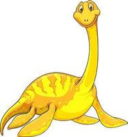 un personaggio dei cartoni animati di dinosauro pliosauro vettore