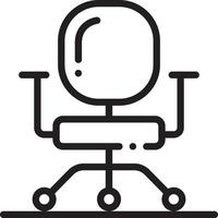 icona linea per sedia da lavoro vettore