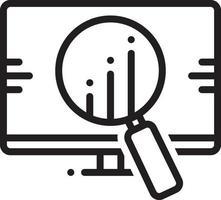 icona linea per analisi competitiva vettore