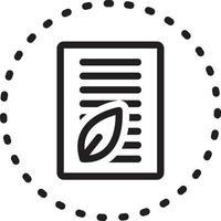 icona della linea per nuovi contenuti vettore