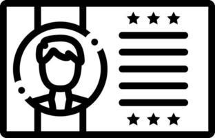 icona della linea per il profilo del cliente vettore