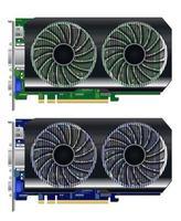 scheda vga grafica computer reale su sfondo bianco vettore