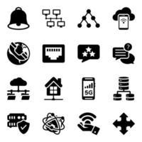 tecnologia moderna ed elementi di comunicazione vettore
