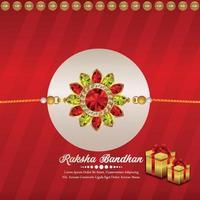 felice biglietto di auguri invito raksha bandhan con rakhi vettoriale creativo