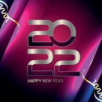 felice anno nuovo 2022 biglietto di auguri di invito vettore