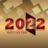 felice anno nuovo 2022 celebrazione biglietto di auguri e sfondo vettore