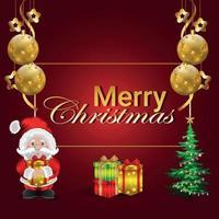 buon natale santa e regali vettore