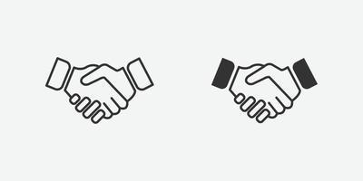 illustrazione vettoriale di simbolo icona stretta di mano