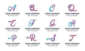 raccolta di modelli di lettera logo vettore
