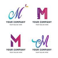 raccolta di modelli di logo m vettore