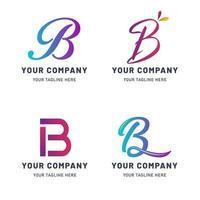 raccolta di modello di logo b vettore