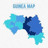 mappa dettagliata della guinea con le città vettore