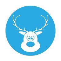 semplice illustrazione del concetto di cervo di Natale per le vacanze di Natale vettore