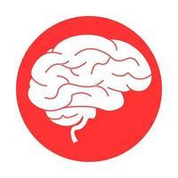 icona dell'illustrazione del cervello per il web design isolato su sfondo bianco vettore