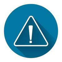 simbolo del punto esclamativo, icona pericolosa di avvertimento giallo su sfondo bianco, stile di design semplice illustrazione vettoriale