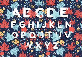 vettore di progettazione del modello di alfabeto di autunno