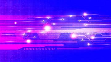 microchip del circuito blu scuro su sfondo tecnologico, design digitale hi-tech e concetto di sicurezza, spazio libero per testo inserito, illustrazione vettoriale. vettore