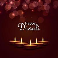 illustrazione vettoriale creativo di felice diwali, festival di diwali della cartolina d'auguri dell'invito leggero
