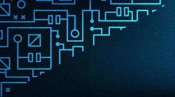 microchip digitale su sfondo tecnologico, design digitale hi-tech e concetto di sicurezza, spazio libero per testo inserito, illustrazione vettoriale. vettore
