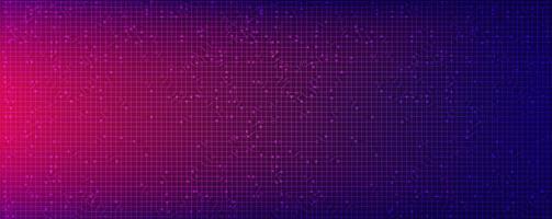 tecnologia del microchip del circuito viola chiaro su sfondo futuro, design concept digitale e comunicazione hi-tech, spazio libero per il testo inserito, illustrazione vettoriale. vettore