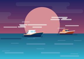 Illustrazione di alto mare vettore