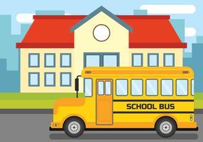 Illustrazione di scuolabus vettore