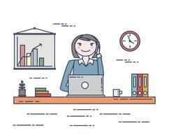 Illustrazione della donna di affari vettore
