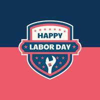 Distintivo del Labor Day vettore