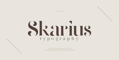 carattere elegante e moderno delle lettere dell'alfabeto. design di moda minimal lettering classico. tipografia moderni caratteri serif regolari decorativi vintage concetto. vettore