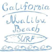california surf malibu isolato vettore