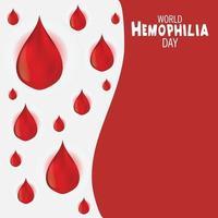 illustrazione vettoriale di uno sfondo per la giornata mondiale dell'emofilia.