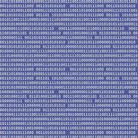modello binario blu vettore