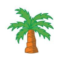 palme isolato sfondo bianco design vettore