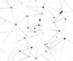 molecola di sfondo grafico geometrico e comunicazione. complesso di big data con composti. sfondo prospettico. visualizzazione dei dati digitali. illustrazione vettoriale cibernetica scientifica.