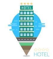 Illustrazione Hotel Flat vettore