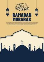 bellissimo banner del ramadan vettore