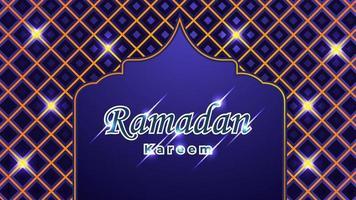 sfondo di ramadan kareem con ornamento islamico vettore
