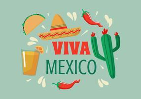 vettore di illustrazione di viva mexico