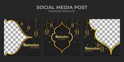 Ramadan Kareem Temaplate post sui social media vettore