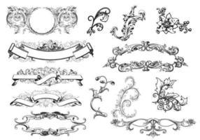 Vettori antichi dell'ornamento del rotolo