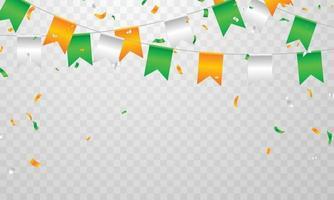 grafica dell'indipendenza del giorno dell'indipendenza saluto sfondo. celebrazione illustrazione vettoriale. vettore