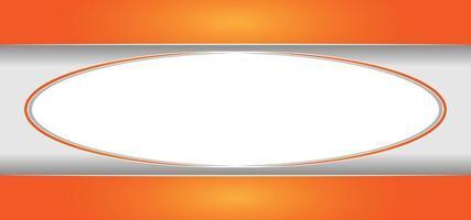 cornice arancione astratta o sfondo vettore