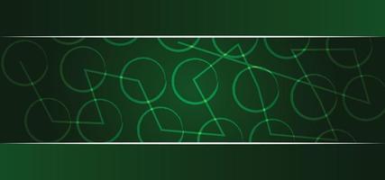 modello geometrico verde bellissimo sfondo o banner vettore