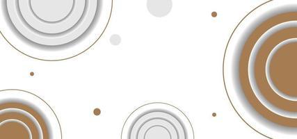 forme geometriche cerchi sfondo semplice o banner vettore