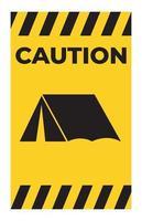 nessun campeggio cantare isolare su sfondo bianco, illustrazione vettoriale